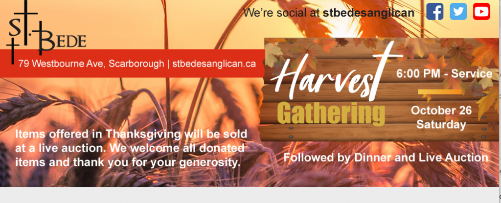 Get ready for our Harvest Gathering!