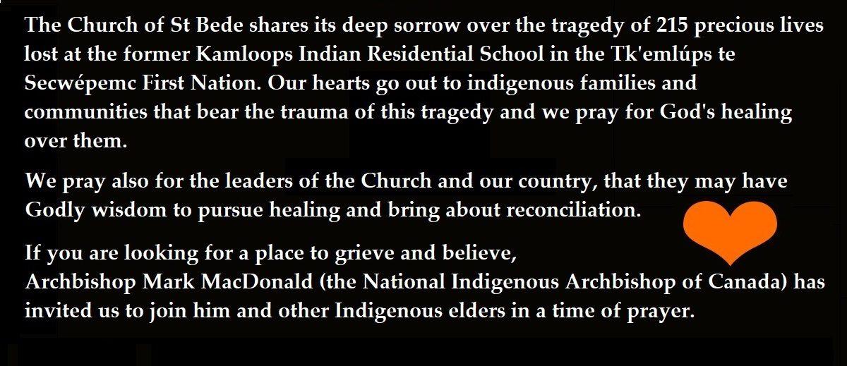 Recent tragedy of Indigenous children
